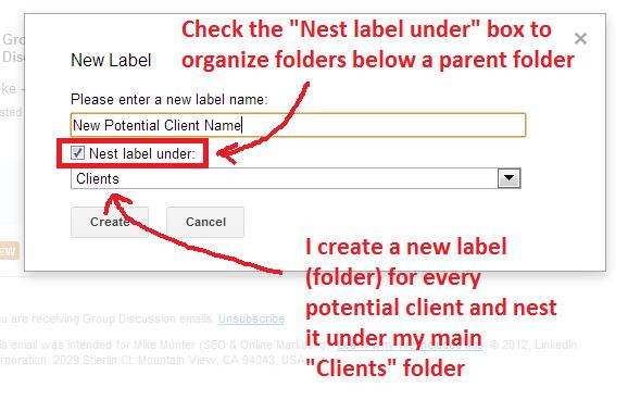 new client folder