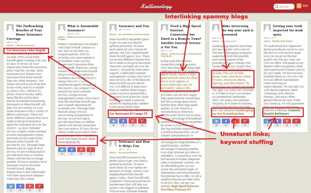 spammy blog with unnatural links