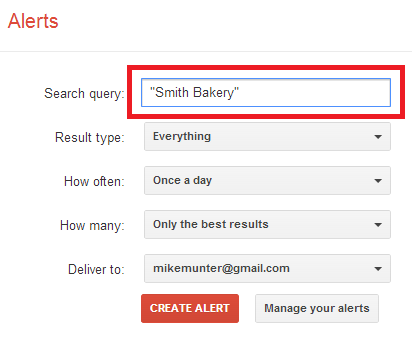 alerts - smith bakery