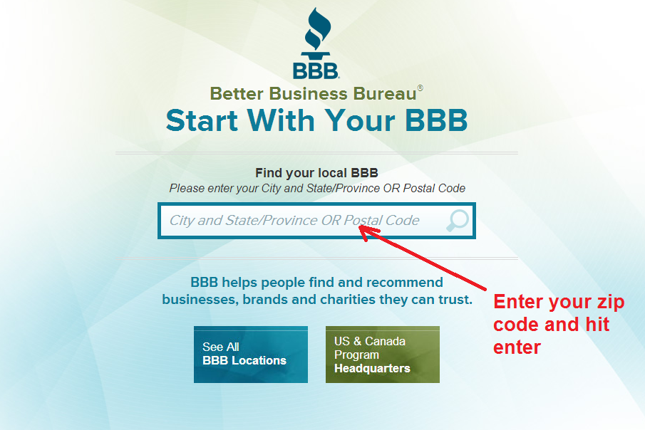 bbb - find local chapter