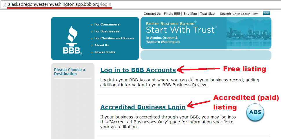 bbb - log back in to claim