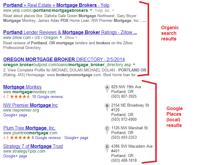 google-places-local-results-and-organic-results