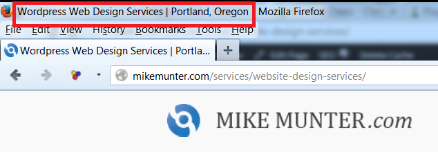 title of web page for mikemunter