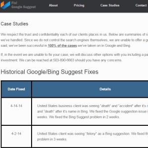 fixgoogle suggest case studies page