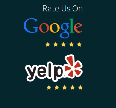 reviews for google plus and yelp on website