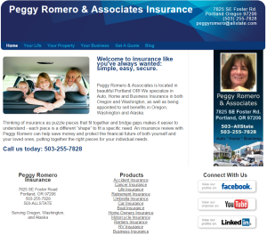 insurance agency old website design