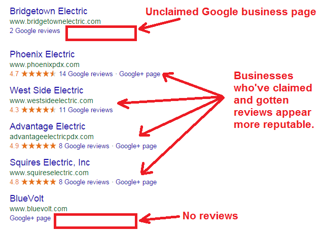 electricians local search results