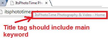 wedding photographer seo title tag