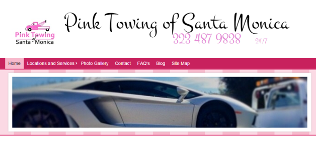 pink towing homepage