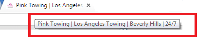 towing seo title tag