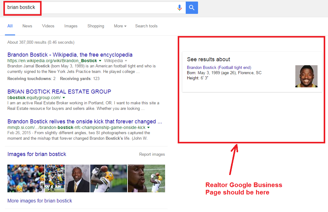 how to create google search right side information box
