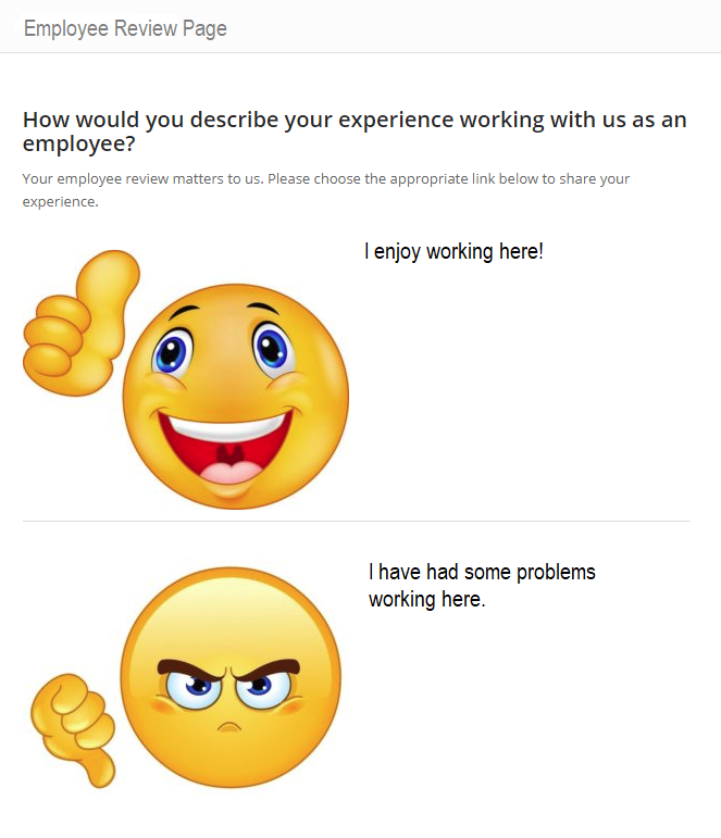 employee review page
