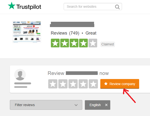 trust pilot write review