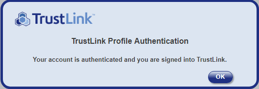 trustlink after activating account from email