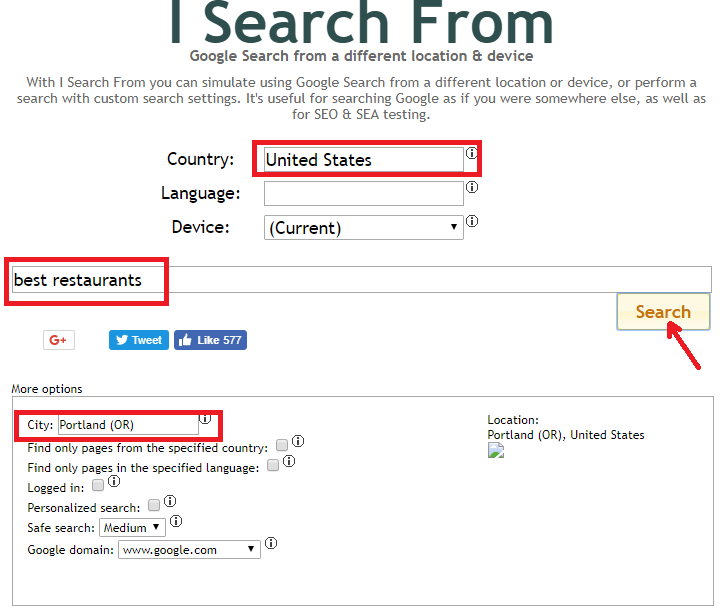 """My Saves Bing: How To Change """"Search From"""" Location In Google, Bing"""