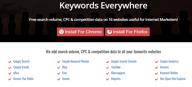 using keywords everywhere for google autocomplete quote