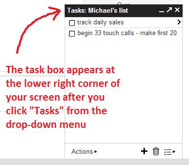 tasks box