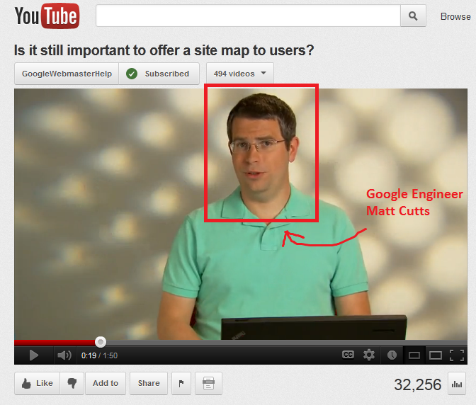 Matt cutts explains Sitemaps