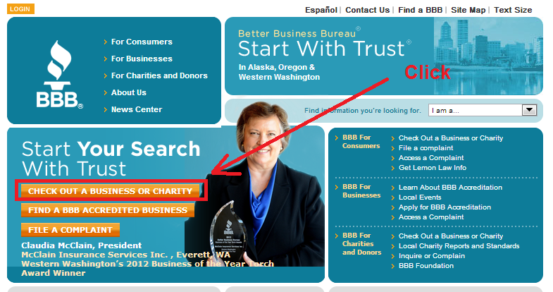 bbb - check out a business