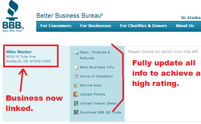 bbb -linked business