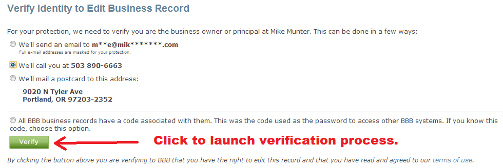 bbb - verify business