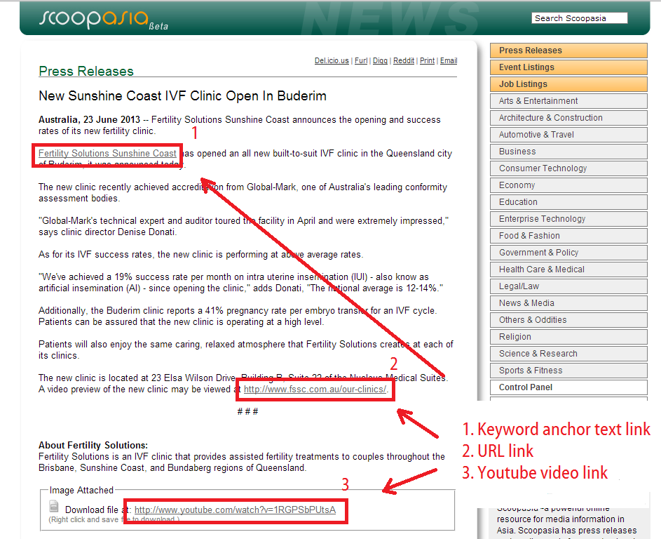 scoop asia published press release with dofollow links