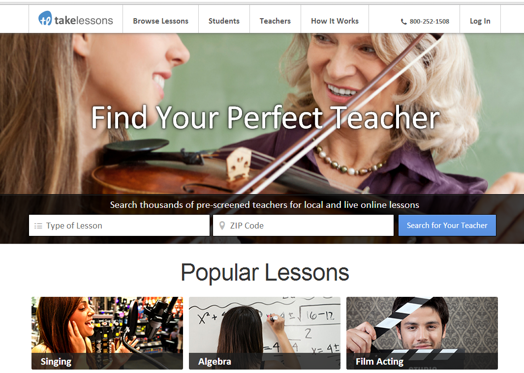 take lessons home page
