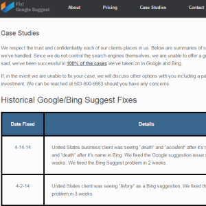 fixgoogle suggest case studies page