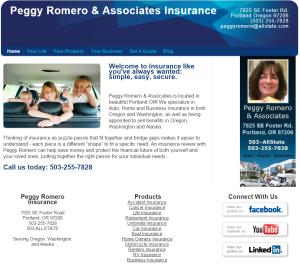 insurance agency old website design