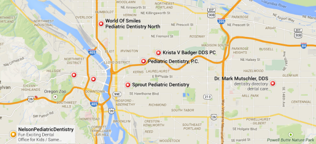 google maps for pediatric dentist portland or