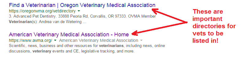 veterinary online directories