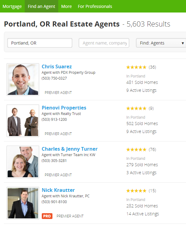 trulia agent listing